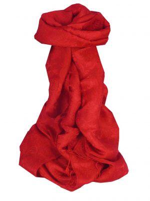 Vietnamese Silk Scarf Reversible Hoi-An Son-La Scarlet by Pashmina & Silk