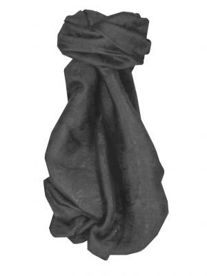 Vietnamese Silk Scarf Reversible Hoi-An Son-La Black by Pashmina & Silk
