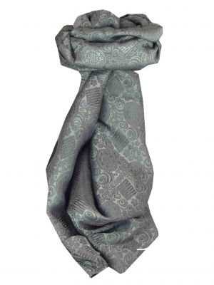 Vietnamese Silk Scarf Reversible Hoi-An Ben-Tre Charcoal by Pashmina & Silk