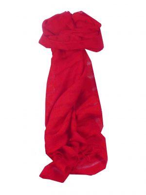 Vietnamese Long Silk Scarf Hue Weave Scarlet by Pashmina & Silk