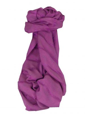 Vietnamese Long Silk Scarf Hue Weave Mallow by Pashmina & Silk