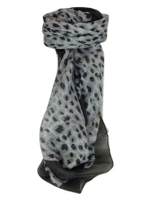 Mulberry Silk Contemporary Square Scarf Vihar Black by Pashmina & Silk