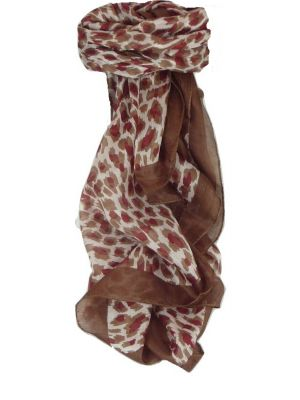 Mulberry Silk Contemporary Square Scarf Vihar Chestnut by Pashmina & Silk