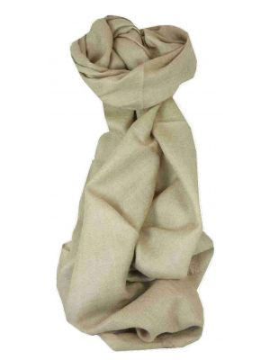 MENS Fine Cashmere Scarf Fawn by Pashmina & Silk
