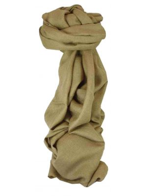 Fine Cashmere Scarf Karakoram Birds-Eye Weave Fallow by Pashmina & Silk