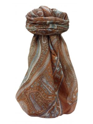 Mulberry Silk Traditional Square Scarf Devan Copper by Pashmina & Silk