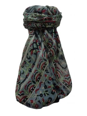 Mulberry Silk Traditional Square Scarf Geetha Black by Pashmina & Silk