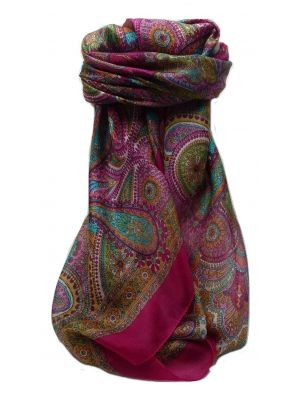Mulberry Silk Traditional Square Scarf Gul Pink by Pashmina & Silk