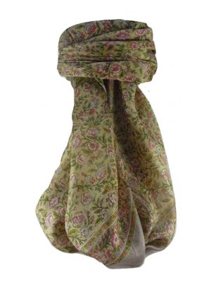 Mulberry Silk Traditional Square Scarf Jha Blush by Pashmina & Silk