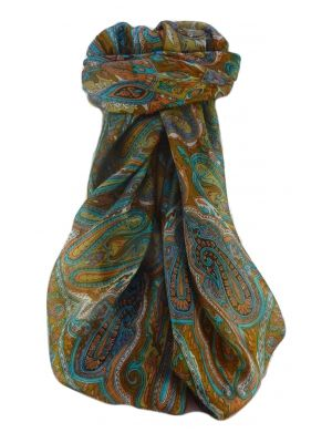 Mulberry Silk Traditional Square Scarf Karun Gold by Pashmina & Silk
