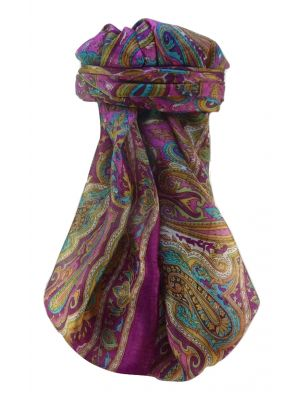 Mulberry Silk Traditional Square Scarf Karun Violet by Pashmina & Silk