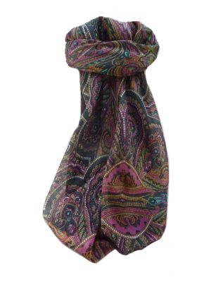 Mulberry Silk Traditional Square Scarf Kiya Green by Pashmina & Silk