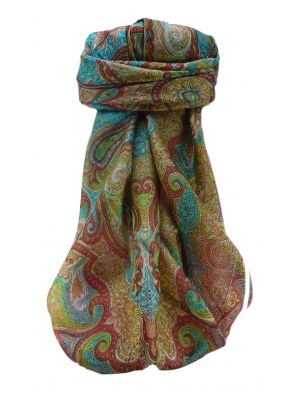 Mulberry Silk Traditional Square Scarf Mishti Rose by Pashmina & Silk