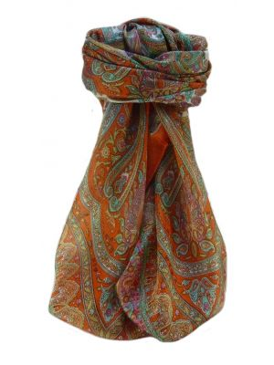 Mulberry Silk Traditional Square Scarf Noor Marigold by Pashmina & Silk