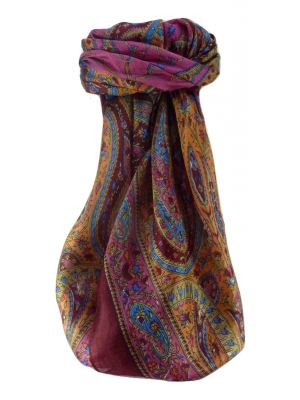 Mulberry Silk Traditional Square Scarf Takia Maroon by Pashmina & Silk