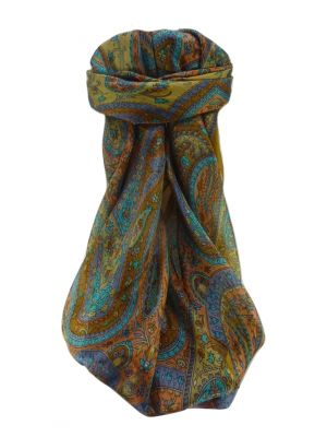 Mulberry Silk Traditional Square Scarf Takia Gold by Pashmina & Silk