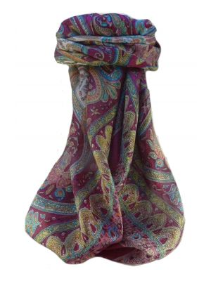 Mulberry Silk Traditional Square Scarf Waheed Violet by Pashmina & Silk