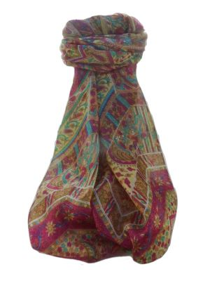 Mulberry Silk Traditional Long Scarf  Ajay  Chestnut by Pashmina & Silk