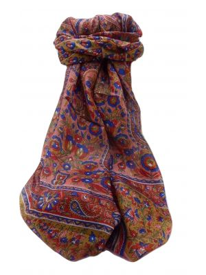 Mulberry Silk Traditional Long Scarf  Dil Red by Pashmina & Silk
