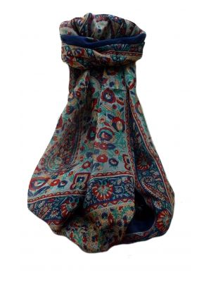 Mulberry Silk Traditional Long Scarf  Dil Navy by Pashmina & Silk