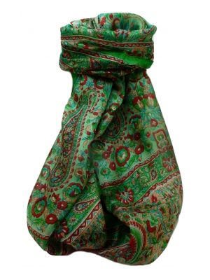 Mulberry Silk Traditional Long Scarf  Dil Lime by Pashmina & Silk