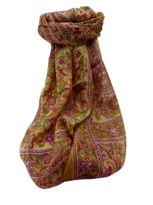 Mulberry Silk Traditional Long Scarf  Dil Gold by Pashmina & Silk