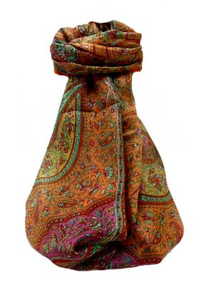 Mulberry Silk Traditional Long Scarf  Ishara Marigold by Pashmina & Silk