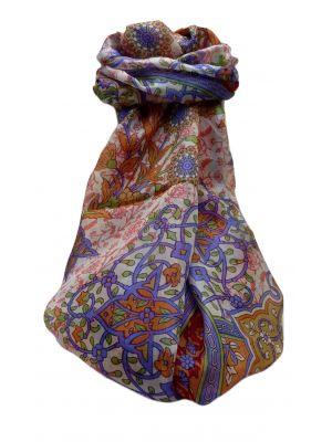 Mulberry Silk Traditional Long Scarf  Kareena Scarlet by Pashmina & Silk