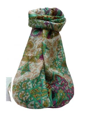 Mulberry Silk Traditional Long Scarf  Kareena Copper by Pashmina & Silk