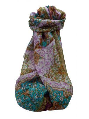 Mulberry Silk Traditional Long Scarf  Kareena Maroon by Pashmina & Silk