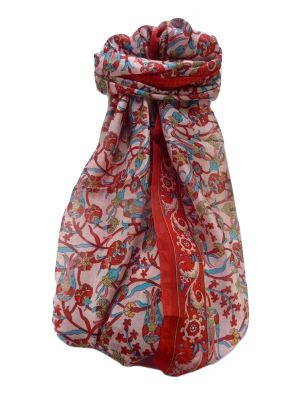 Mulberry Silk Traditional Long Scarf  Karwan Flame by Pashmina & Silk