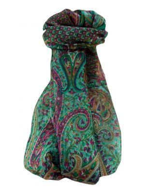 Mulberry Silk Traditional Long Scarf  Mallik Emerald by Pashmina & Silk
