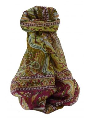 Mulberry Silk Traditional Long Scarf  Meri Chestnut by Pashmina & Silk