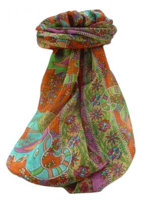 Mulberry Silk Traditional Long Scarf  Pyar Marigold by Pashmina & Silk