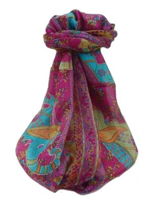 Mulberry Silk Traditional Long Scarf  Pyar Pink by Pashmina & Silk