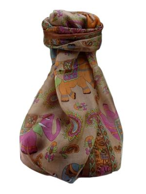 Mulberry Silk Traditional Long Scarf  Qamar Chestnut by Pashmina & Silk