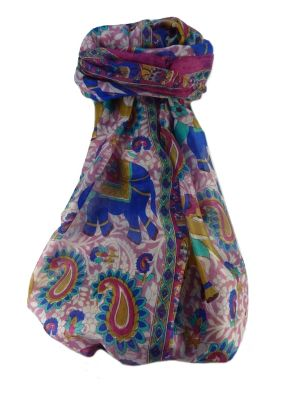 Mulberry Silk Traditional Long Scarf  Qamar Rose by Pashmina & Silk