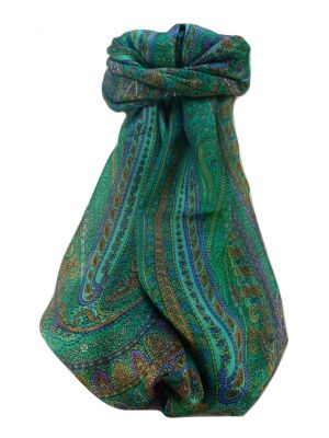 Mulberry Silk Traditional Long Scarf  Ranveer Emerald by Pashmina & Silk