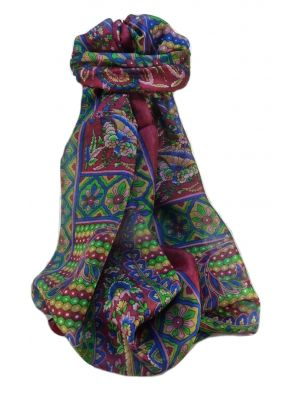Mulberry Silk Traditional Long Scarf  Shakila Rose by Pashmina & Silk