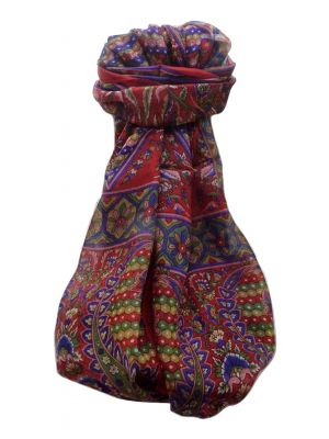Mulberry Silk Traditional Long Scarf  Shakila Scarlet by Pashmina & Silk
