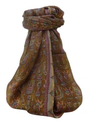 Mulberry Silk Traditional Long Scarf  Vimi Chestnut by Pashmina & Silk