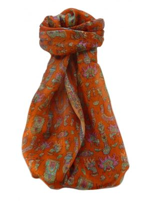 Mulberry Silk Traditional Long Scarf  Vimi Marigold by Pashmina & Silk