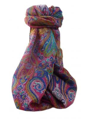 Mulberry Silk Traditional Long Scarf  Yaar Pink by Pashmina & Silk
