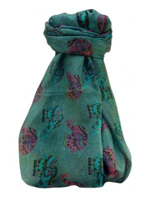Mulberry Silk Traditional Long Scarf  Yahan Sage by Pashmina & Silk