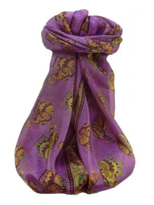 Mulberry Silk Traditional Long Scarf  Yahan Pink by Pashmina & Silk
