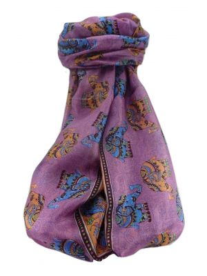 Mulberry Silk Traditional Long Scarf  Yahan Maroon by Pashmina & Silk