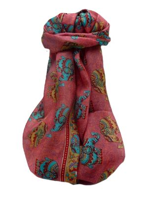 Mulberry Silk Traditional Long Scarf  Yahan Scarlet by Pashmina & Silk