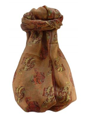 Mulberry Silk Traditional Long Scarf  Yahan Copper by Pashmina & Silk