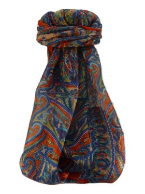 Mulberry Silk Traditional Long Scarf  Yami Marigold by Pashmina & Silk