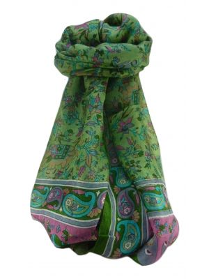 Mulberry Silk Traditional Long Scarf  Zinta Sage by Pashmina & Silk